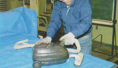 掃除機の分解修理