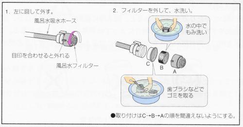 風呂の残り湯の使用