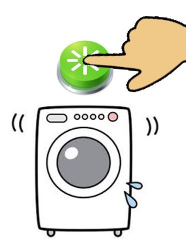 全自動洗濯機のデジタル表示がおかしい